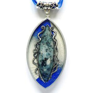 Originální modrý náhrdelník s jaspisem