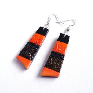 Náušnice oranžové lehoučké