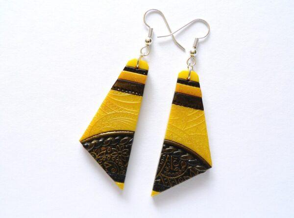 Náušnice žluté lehoučké