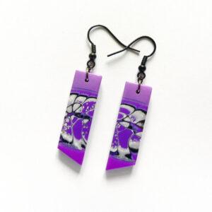 Náušnice fialové lehké