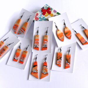 Náušnice oranžové