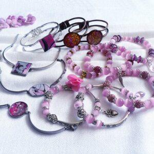 Náramky růžové