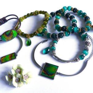 Náramky zelené