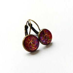 Náušnice třpytivé růžové