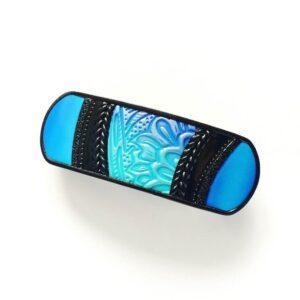 Vlasová spona malá modrá
