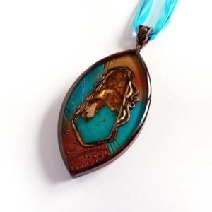 Tyrkysový náhrdelník s orgonitem