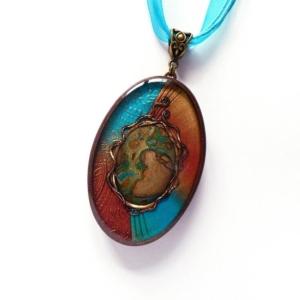 Tyrkysový náhrdelník s minerálem Jaspis