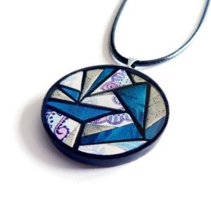 Kulatý náhrdelník s mozaikou