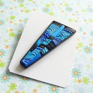 Brož modrá